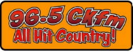 Click here to listen to All Hit Country music on CKLJ 96.5 Olds