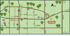 The Days of Yore Festival location is at Rosebud Park on the east end of 20th Street, (Highway 582) in Didsbury.