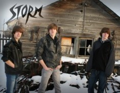 Original band members of Storm include Brad and Ryan Fleischer, with Zack McKague on drums.